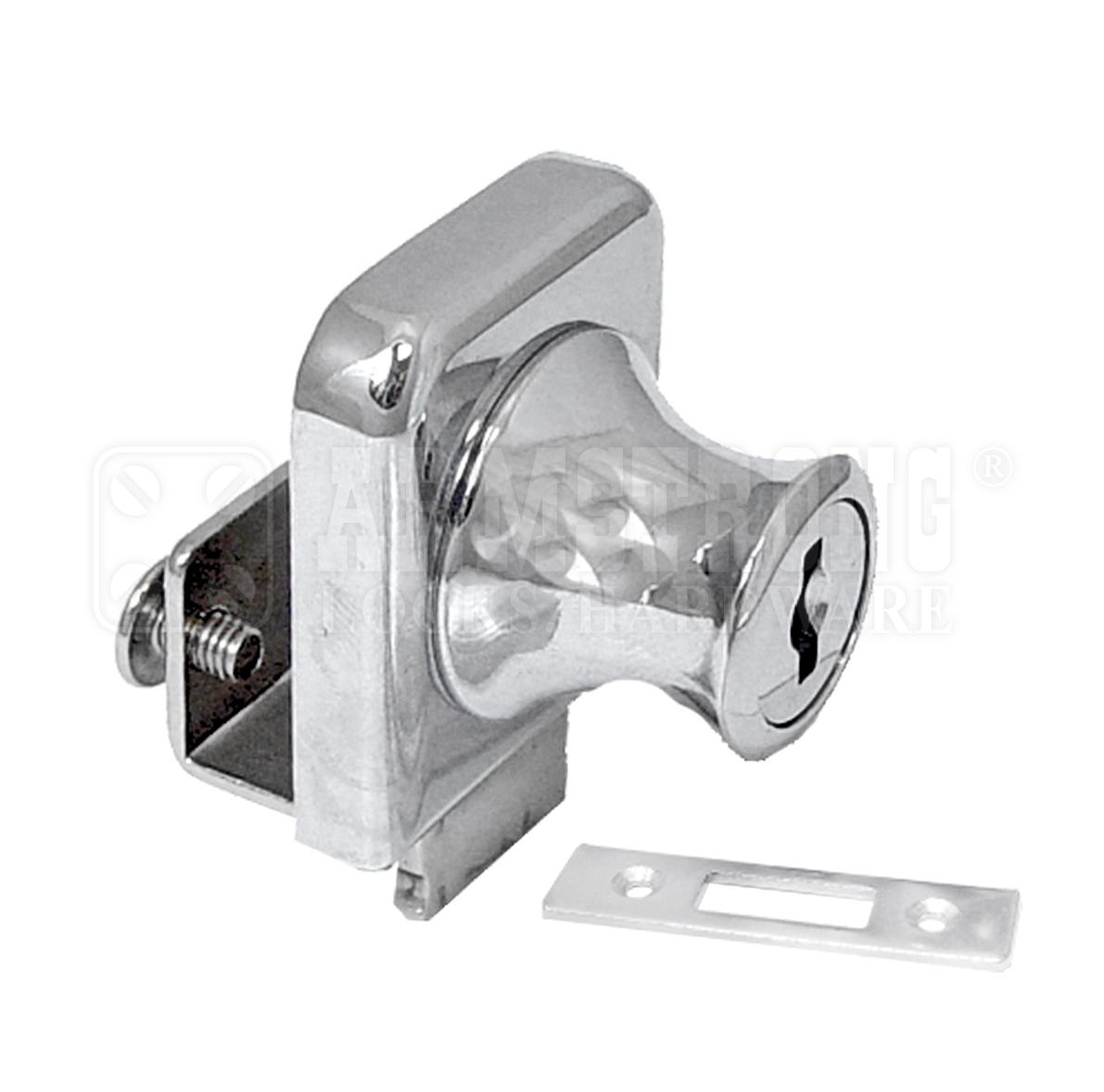 Cabinet Single Swinging Glass Door Lock 407