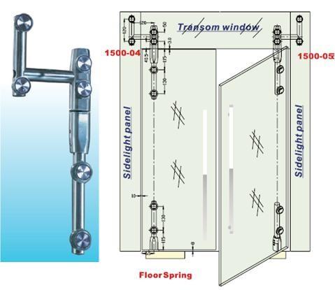 Glass Door Hinges For Left Door Glass To Glass 1500sus 04