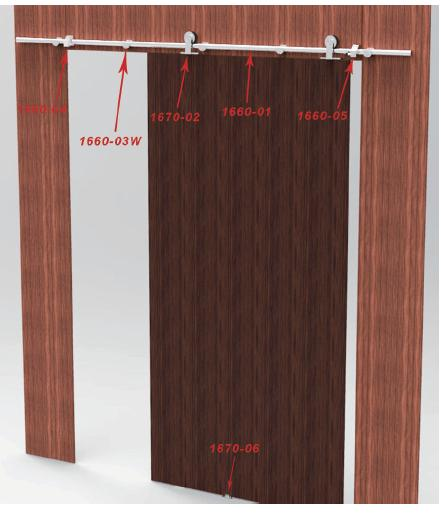 Sliding wooden door system 1670 for Sliding door manufacturers